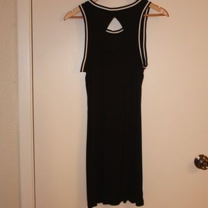 Black Rib Knit Dress